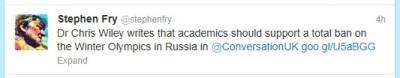 Stephen Fry - Twitter feed