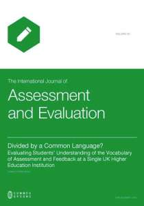 The International Journal of Assessment and Evaluation