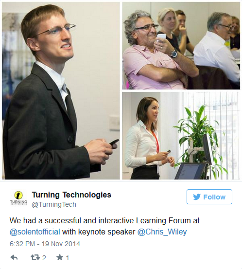 Turning Technologies - Southampton Solent - Learning Forum