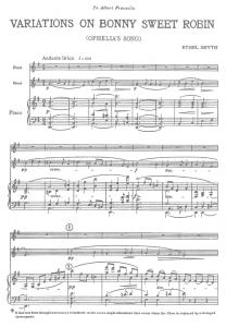 Smyth, Variations on Bonny Sweet Robin