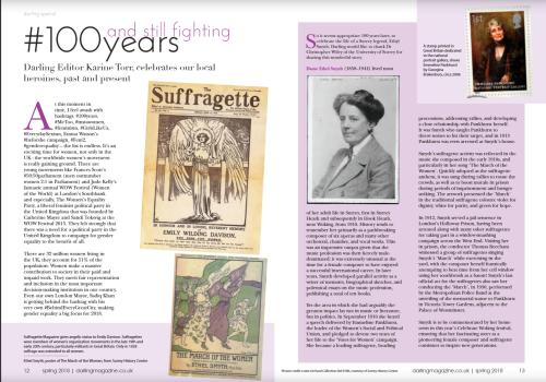 Ethel Smyth - Darling magazine Spring 2018 pp.12-13
